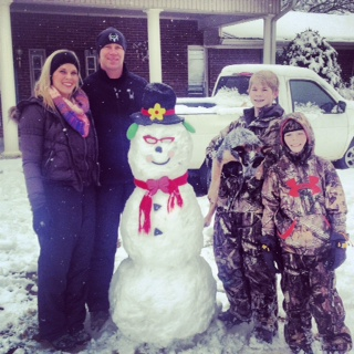 The Smith family on Red Bud Rd.