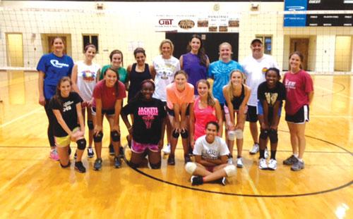 Calhoun team volleyball camp
