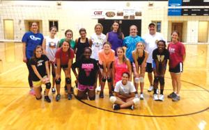 Calhoun team volleyball camp
