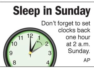Almost time to set your clocks back