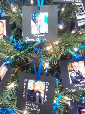 Cedartown Police Department Christmas tree