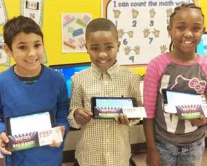 <p>1st place Colby Fuqua, middle, 2nd place Kameron Skonieczny, left, and 3rd place Khalil Williams, right</p>
