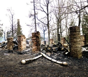 <p>Mentone Springs Hotel was destroyed by fire Saturday night. The hotel was built in 1884 and was thought to be the oldest hotel operating in the state of Alabama. (Contributed photo)</p>
