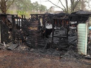 Blaze destroys house