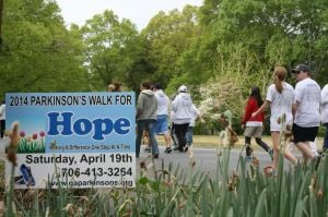<p>The 7th annual Parkinson's Walk for Hope had raised more than $15,000 as of Saturday morning, and will continue to raise money for the next week to help those in Georgia with the disease. </p>