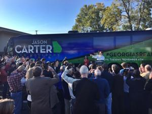 <p>Democratic gubernatorial Jason Carter makes a stop in Calhoun on Saturday afternoon.</p>