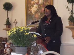 <p>Candace Jackson from Teacher Retirement Service gave an update to teachers on what the state retirement services are offering.</p>