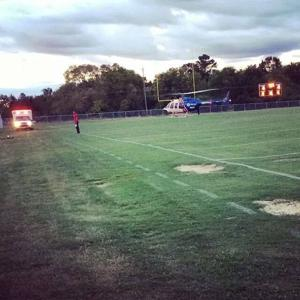 Student airlifted from Red Bud Middle School football game