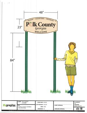 New proposed Polk County welcome signage