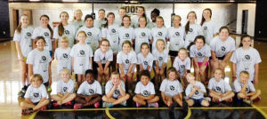 <p>Around 40 players took part in a boys and girls basketball camp hosted by the Coosa High Lady Eagles. (Contributed photo)</p>