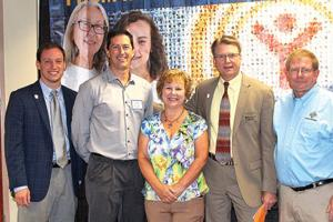 <p><strong>From left:</strong> Justin Whitaker, associate resource development director in North Georgia; Scott Brown, general manager and manufacturing director at Roper Corporation; Rhonda Beasley, Roper Corporation HR Manager and United Way's 2016 campaign manager for Walker, Catoosa and Dade Counties; Kyle Hauth, executive eirector of Orange Grove and Grant Beasley.</p>