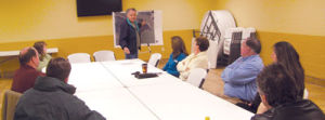 <p>Local community leaders discuss the possibilities of developing Leesburg Landing to prepared for possibly getting an Alabama Bass Trail Tournament some time in 2015. The first step is to get the area paved with gravel, which would fall more into local budgetary plans.</p>
