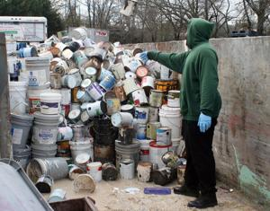 More than 250 turn out in spite of the weather for Saturday's hazardous waste collection