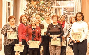 The Bank of LaFayette honors employees for service