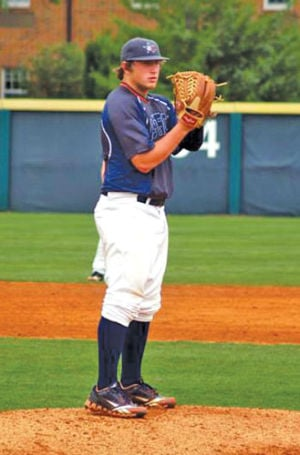 <p>Sonoraville's Thad Harris at Perfect Game 17-U Tournament (Contributed Photo)</p>