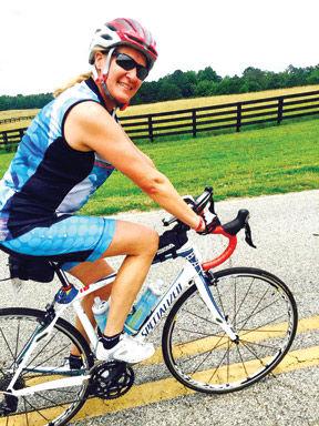 <p>Lisa Heyer joins the annual Bike Ride Across Georgia.</p>