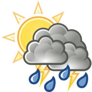Tuesday forecast: 60 percent chance of rain, high 84