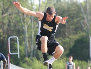 Hollis flies in the air