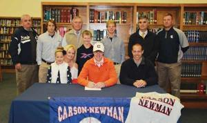BASEBALL: Logan Peterson inks with Carson-Newman