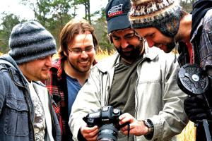 """<p>Filming for """"Down and Yonder"""" is schedule to begin in late July in Walker County. The film crew is looking to raise $30,000 to produce the full-feature film. The fundraiser officially kicks off Feb. 2 on indiegogo.com and will run for 60 days. From left: Benson Greene, Christopher Flippo, Geoff James and Sam Griffiths, all of Cindicate Productions. (Messenger photo/Josh O'Bryant)</p>"""