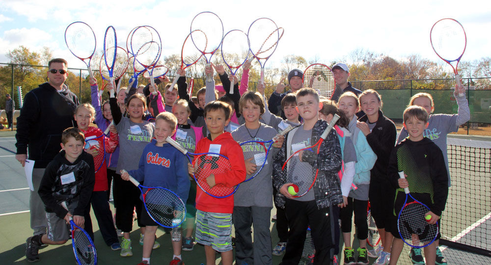Armuchee Elementary School Teach Me Tennis group
