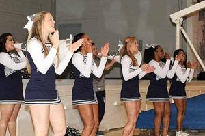<p>The Georgia Northwestern Bobcat Cheerleaders earned a bid to compete in the Co-Ed Intermediate Division (II) at the NCA Nationals in Florida this April. (Messenger photo/Scott Herpst)</p>