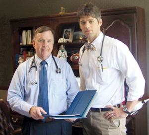 Dr. Brian Perry and Bryce Hunt