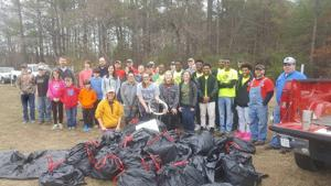 <p>Volunteers collected 45 bags of trash on Monday, Jan. 16, 2017, during the MLK Day Clean up at the GE trails. Participants included Boys & Girls Club of Northwest Georgia, 100 Black Men of Rome, Berry College service students, Citizens of Georgia Power volunteers, Keep Rome Floyd Beautiful and TRED. The site will officially open in mid-February. (Contributed photo)</p>