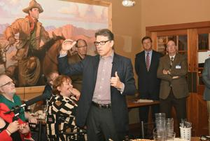 Perry talks security, farm issues