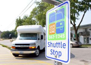 Safe Ride shuttle bus