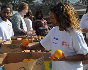 Passion for serving:  AU students giving back during spring break