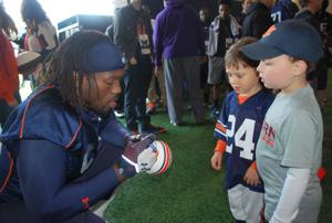 Auburn football pediatric cancer patients