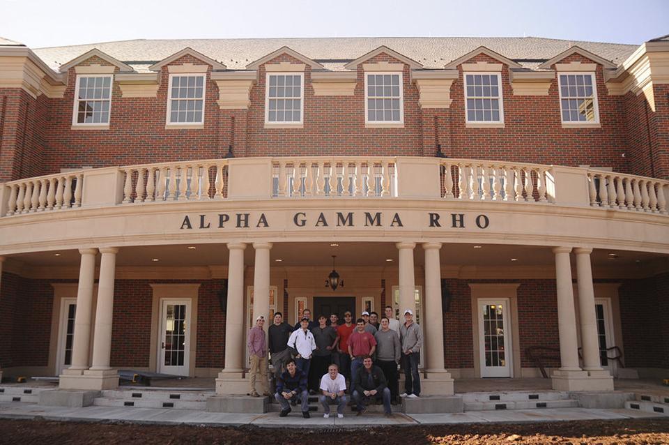 alpha gamma rho moves into new house