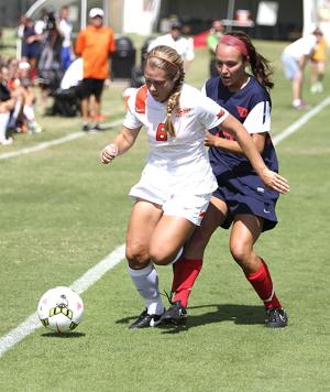 <p>Anna Beffer scored for OSU in a 2-0 win against Dayton.</p>