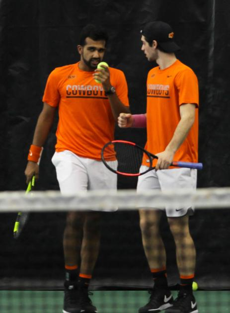 Oklahoma State men's tennis team advances to ITA National Indoor quarterfinals