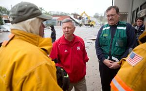Gov. Heineman tours storm-affected areas, expected to issue disaster declaration
