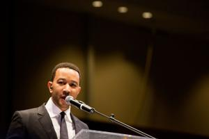 John Legend has message for young professionals, and a song or two
