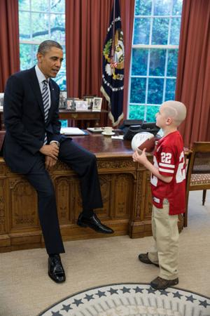 Husker spring game star Jack Hoffman has 'awesome' meeting with President Obama