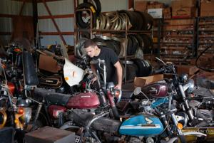 Vintage motorcycles are dusted off, polished up and ready for the sale of the half-century