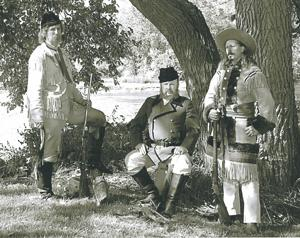 Re-enactment of buffalo hunt to salute Grand Duke Alexis visit