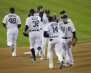 Detroit shakes up lineup, beats Boston 7-3 in ALCS