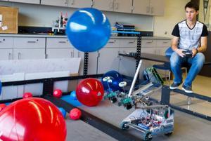 Millard North team fine-tunes before U.S. robotics face-off