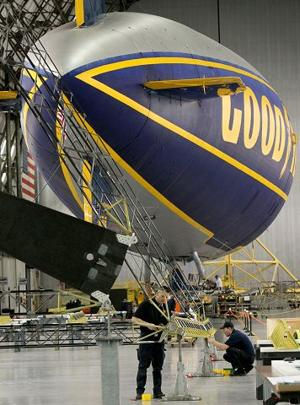Goodyear charts new course for blimps