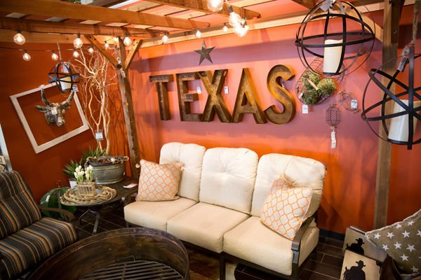 But there are prominent nods to the Texas audience  A  pop up  gallery just  past the front door has d cor. For Nebraska Furniture Mart  everything  including sales  is