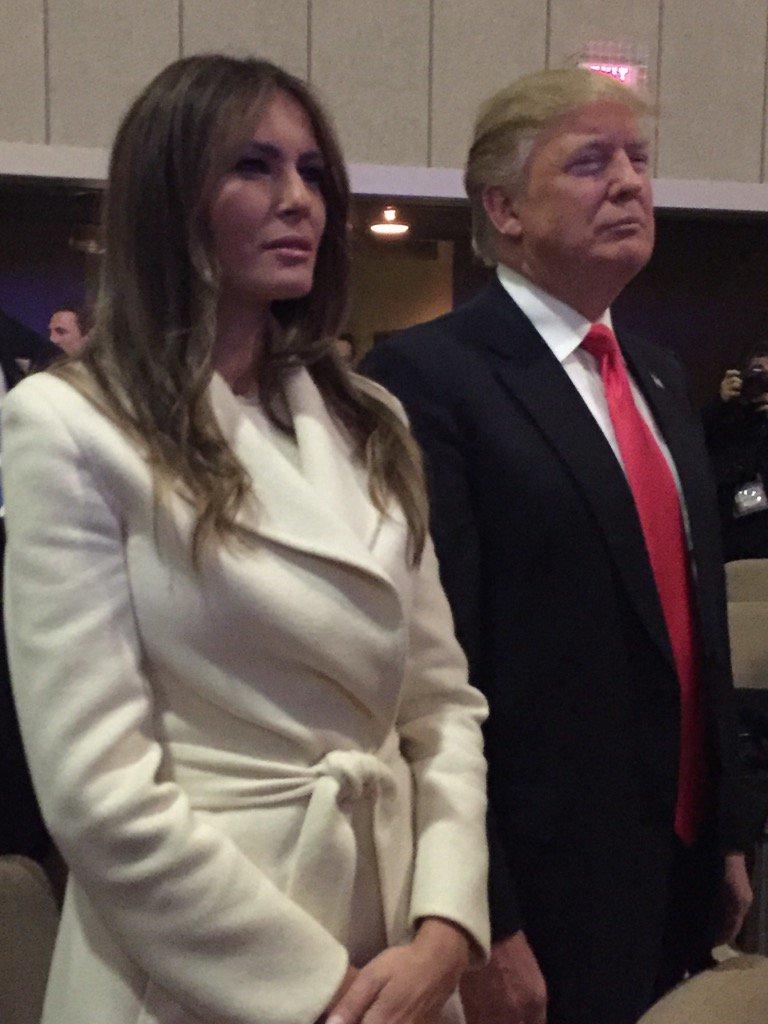 Trumps at church in Bluffs
