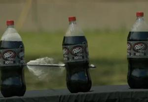 VIDEO: Crossbow vs. Dr. Pepper, in slow motion
