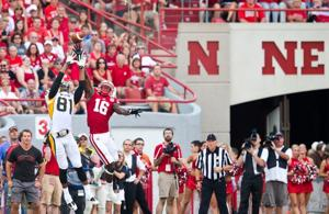 After every pick, Nebraska's Jean-Baptiste is looking for six