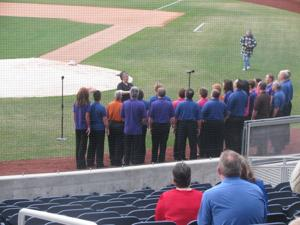 Finalists audition to perform national anthem during CWS