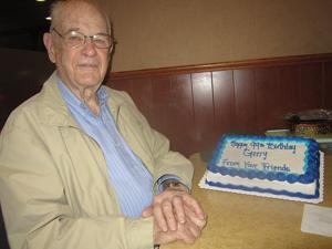 Bluffs man turns 99; heredity helped, and he 'never smoked or drank'