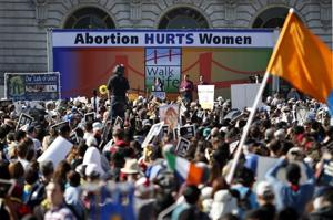 Anti-abortion activists march in San Francisco